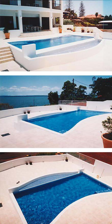 Swimming pool with ocean-view